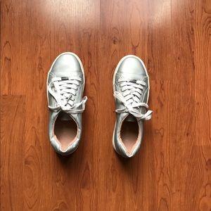 Metallic topshop shoes